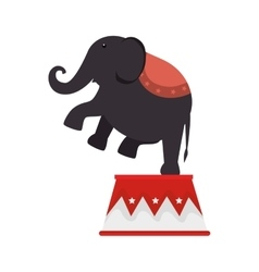elephant circus entertainment icon vector image