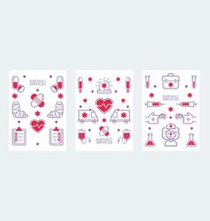 emergency medical service banner vector image