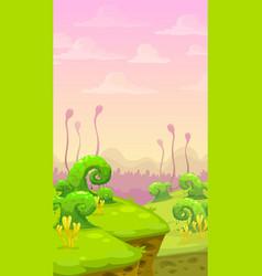 Fantasy world scene vector