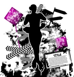 figure skating grunge vector image