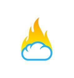 fire weather and season logo icon design vector image
