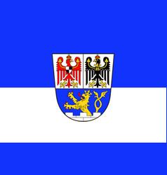 Flag of erlangen in middle franconia in bavaria vector