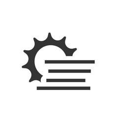 Foggy sun icon vector