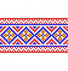 folk ornament vector image