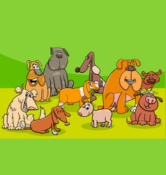 funny dogs group cartoon vector image vector image