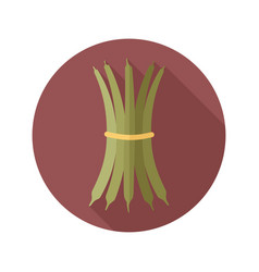 green bean flat icon vegetable vector image