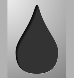 Hand drawn water drops black sketch on white vector