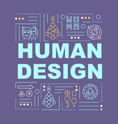 Human design system word concepts banner vector