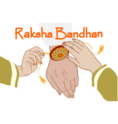 Indian festival raksha bandhan vector