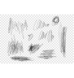 Ink pen scrawls set vector