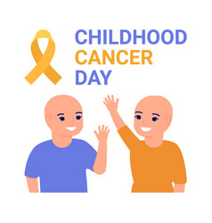 International childhood cancer day poster help vector