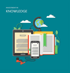 investment in knowledge in vector image