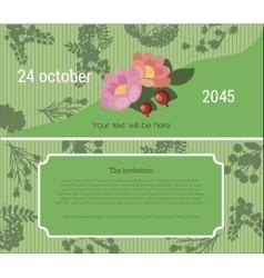 Invitation to the flower fair vector