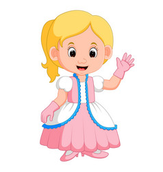 Kids girl princes cartoon vector
