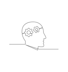 knowledge one line drawing vector image