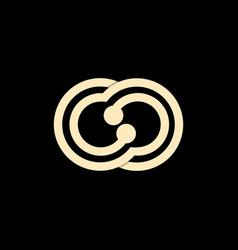 letter cc chain line creative logo design vector image