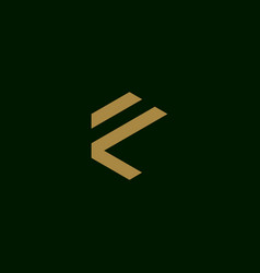 letter f initial symbol logo design vector image