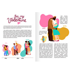 Love hugs infographics vector