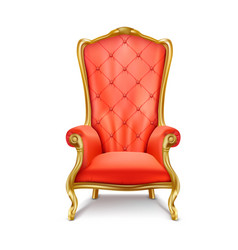 luxurious royal red throne realistic vector image