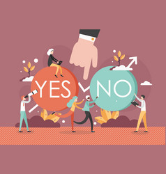 Making choice and decision concept flat vector