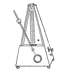 Metronome vintage engraving vector image