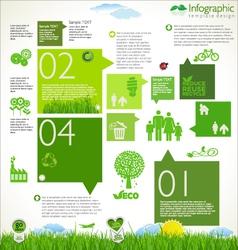 Modern ecology template design vector