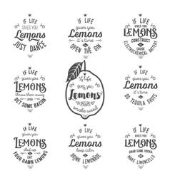 Motivation quote about lemons vector