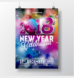 New year party celebration poster template vector