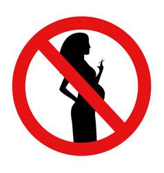 no smoking during vector image