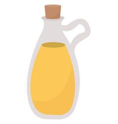 oil in bottle on white background vector image