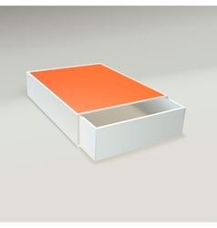 Open matchbox with blank label vector image