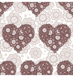 pattern of heart of flowers vector image