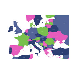 political map of central and southern europe vector image