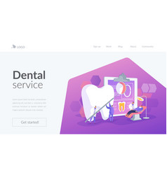 Private dentistry landing page concept vector