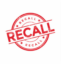recall stamp isolated on white background vector image