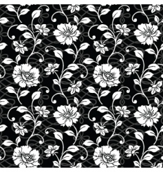 repeating floral and swirl patterns vector image