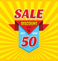 sale discount up to 50 - banner concept il vector image