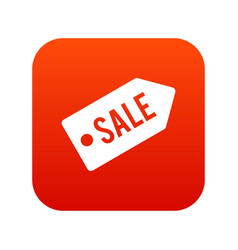 sale icon digital red vector image vector image