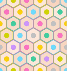 seamless pattern with colorful pencil ends on gray vector image