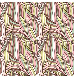 Seamless waves hand-drawn pattern vector image vector image