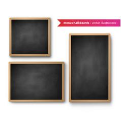 set isolated menu boards vector image
