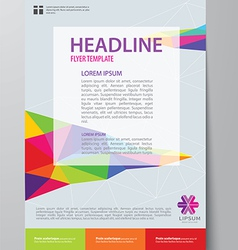 Set of business magazine cover flyer brochure vector