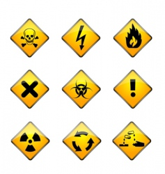 Set of warning icons vector