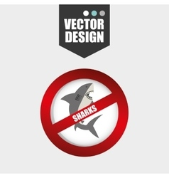shark icon design vector image