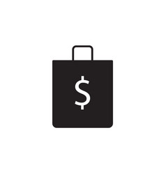 shop bag dollar icon signs and symbols icon vector image