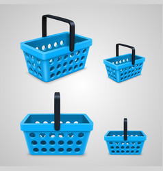 shopping bag with round holes blue vector image