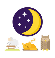 sleep animals icon gift toy vector image
