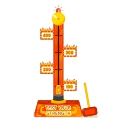 Strength tester test your strength amusement game vector