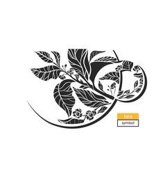 tea cup symbol black vector image