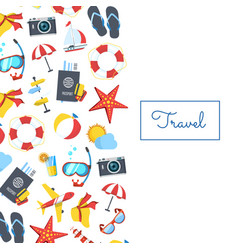 travel elements background with place vector image